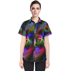 Peacock Bird Animal Feather Women s Short Sleeve Shirt
