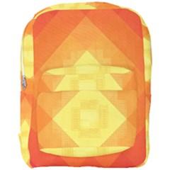 Pattern Retired Background Orange Full Print Backpack by Celenk