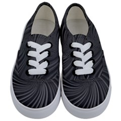 Abstract Art Color Design Lines Kids  Classic Low Top Sneakers