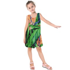 Flowers Art Beautiful Kids  Sleeveless Dress by Celenk