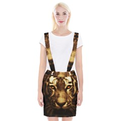 Cat Tiger Animal Wildlife Wild Braces Suspender Skirt by Celenk