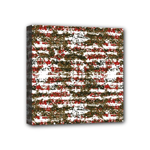 Grunge Textured Abstract Pattern Mini Canvas 4  X 4  by dflcprints