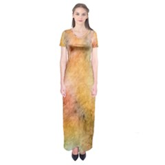 Texture Pattern Background Marbled Short Sleeve Maxi Dress