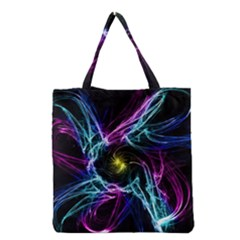 Abstract Art Color Design Lines Grocery Tote Bag by Celenk