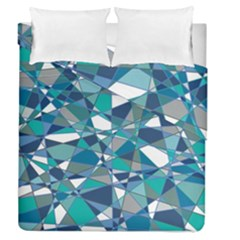 Abstract Background Blue Teal Duvet Cover Double Side (queen Size) by Celenk
