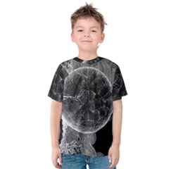 Space Universe Earth Rocket Kids  Cotton Tee by Celenk