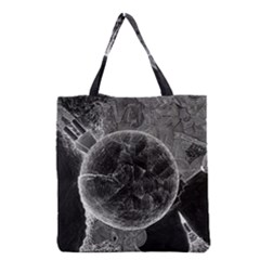 Space Universe Earth Rocket Grocery Tote Bag by Celenk