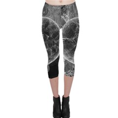 Space Universe Earth Rocket Capri Leggings  by Celenk