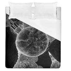 Space Universe Earth Rocket Duvet Cover (queen Size) by Celenk