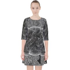 Space Universe Earth Rocket Pocket Dress by Celenk