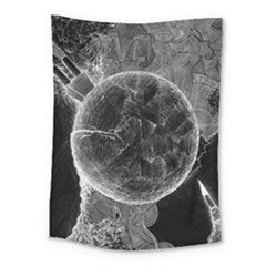 Space Universe Earth Rocket Medium Tapestry by Celenk