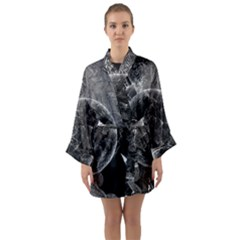 Space Universe Earth Rocket Long Sleeve Kimono Robe by Celenk