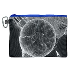 Space Universe Earth Rocket Canvas Cosmetic Bag (xl) by Celenk
