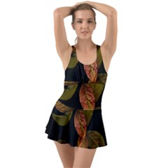 Autumn Leaves Foliage Swimsuit by Celenk