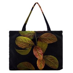 Autumn Leaves Foliage Zipper Medium Tote Bag by Celenk