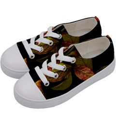 Autumn Leaves Foliage Kids  Low Top Canvas Sneakers by Celenk