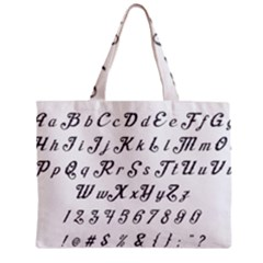 Font Lettering Alphabet Writing Mini Tote Bag by Celenk