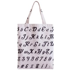Font Lettering Alphabet Writing Zipper Classic Tote Bag by Celenk