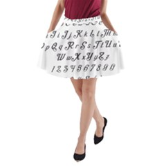 Font Lettering Alphabet Writing A Line Pocket Skirt by Celenk