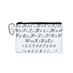 Font Lettering Alphabet Writing Canvas Cosmetic Bag (small) by Celenk