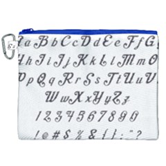 Font Lettering Alphabet Writing Canvas Cosmetic Bag (xxl) by Celenk