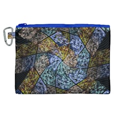Multi Color Tile Twirl Octagon Canvas Cosmetic Bag (xl) by Celenk