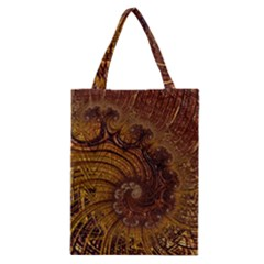 Copper Caramel Swirls Abstract Art Classic Tote Bag by Celenk
