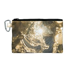 Gold Sea Coast Waves Depier Canvas Cosmetic Bag (medium) by Celenk