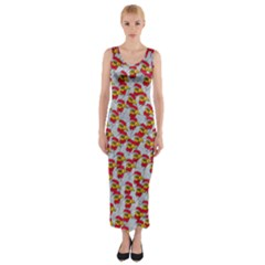 Chickens Animals Cruelty To Animals Fitted Maxi Dress