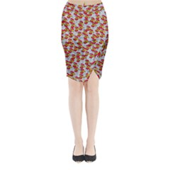 Chickens Animals Cruelty To Animals Midi Wrap Pencil Skirt by Celenk