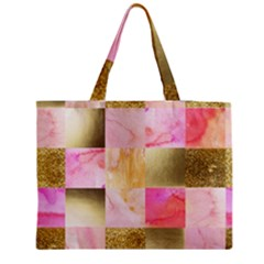 Collage Gold And Pink Medium Tote Bag by 8fugoso