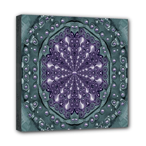 Star And Flower Mandala In Wonderful Colors Mini Canvas 8  X 8  by pepitasart