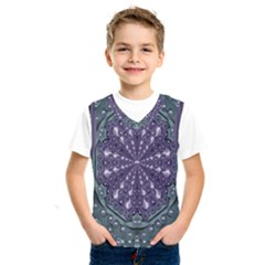 Star And Flower Mandala In Wonderful Colors Kids  Sportswear by pepitasart