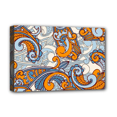 Paisley Pattern Deluxe Canvas 18  X 12   by Celenk