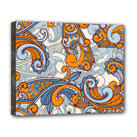 Paisley Pattern Deluxe Canvas 20  X 16   by Celenk
