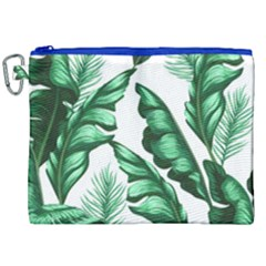 Banana Leaves And Fruit Isolated With Four Pattern Canvas Cosmetic Bag (xxl)