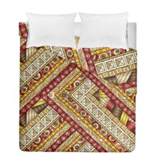 Ethnic Pattern Styles Art Backgrounds Vector Duvet Cover Double Side (full/ Double Size) by Celenk