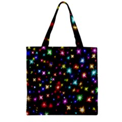 Fireworks Rocket New Year S Day Zipper Grocery Tote Bag by Celenk