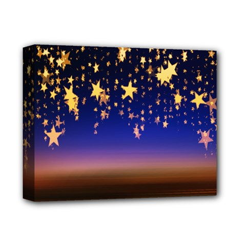 Christmas Background Star Curtain Deluxe Canvas 14  X 11  by Celenk