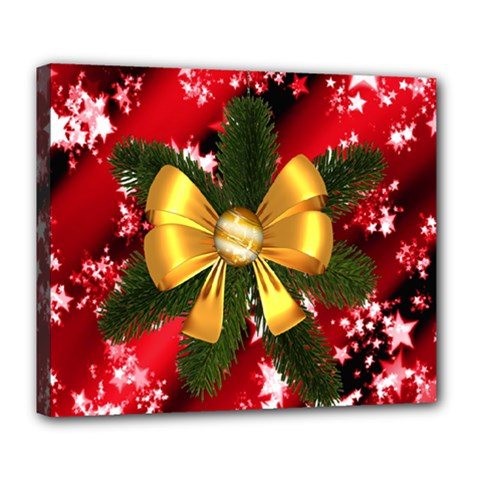 Christmas Star Winter Celebration Deluxe Canvas 24  X 20   by Celenk