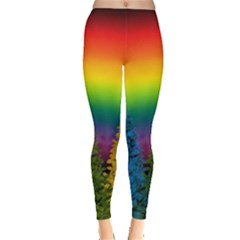 Christmas Colorful Rainbow Colors Leggings  by Celenk