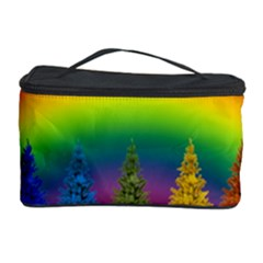 Christmas Colorful Rainbow Colors Cosmetic Storage Case by Celenk