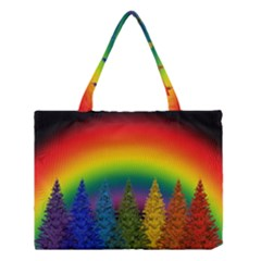 Christmas Colorful Rainbow Colors Medium Tote Bag by Celenk