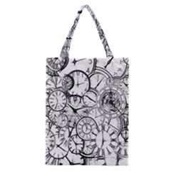 Time Clock Watches Time Of Classic Tote Bag