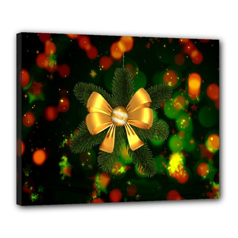 Christmas Celebration Tannenzweig Canvas 20  X 16  by Celenk