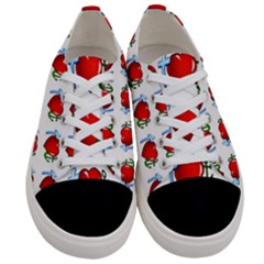 Cross Heart Anchor Love Hope Women s Low Top Canvas Sneakers