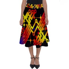 Board Conductors Circuits Perfect Length Midi Skirt by Celenk