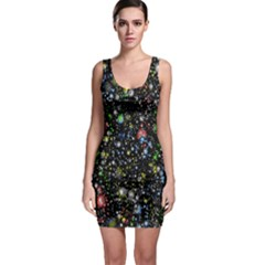 Universe Star Planet All Colorful Bodycon Dress