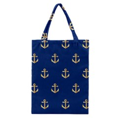 Gold Anchors Background Classic Tote Bag by Celenk
