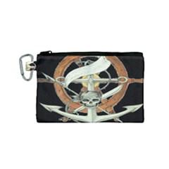 Anchor Seaman Sailor Maritime Ship Canvas Cosmetic Bag (small) by Celenk
